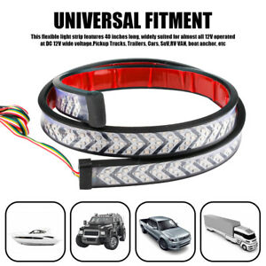 Truck Tailgate Strip Led Sequential Turn Signal Brake Tail Reverse Light 40