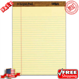 Original Top Yellow Legal Pads 50 Sheets 12 Per Pack 8 1 2 X 11 3 4 In Canary