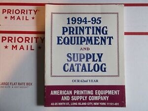 Vintage 1994 95 Printing Equipment And Supply Catalog Letterpress Type