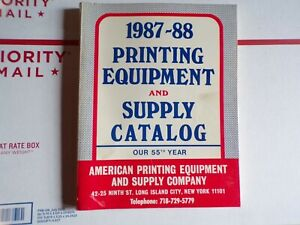 Vintage 1987 1988 Printing Equipment And Supply Catalog Letterpress Type