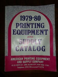 Vintage 1979 1980 Printing Equipment And Supply Catalog Letterpress Type