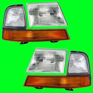 Ford Ranger Xl Xlt 1998 1999 2000 Headlights Headlamps Corner Pair
