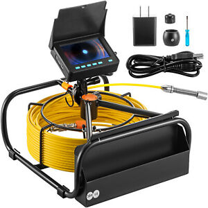 Vevor 65 6 Ft Pipe Inspection Camera Hd Drain Sewer Camera 4 3 In Lcd Monitor