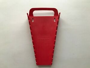 Used Ernst Tools Wrench Rack Holds 11 Wrenches Red Handle