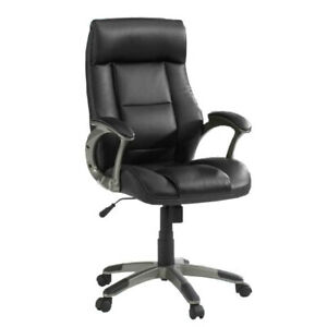 Sauder Woodworking Co Gruga Manager s Office Chair Leather Black
