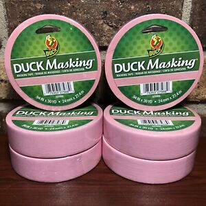 Pink Duck Masking Tape 6 Rolls 94 In X30 Yd Labeling Decorating Color Coding