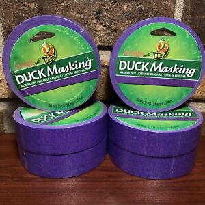 Purple Duck Masking Tape 6 Rolls 94 In X 30 Yd Labeling Decorating Color Coding
