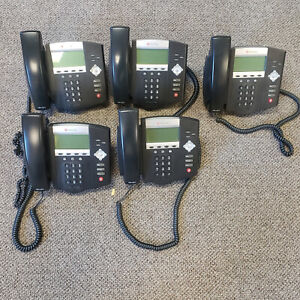 Lot Of 5 Polycom Soundpoint Ip450 Voip Desktop Telephones