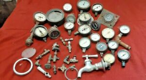 20 Vintage Pressure Gauge Steam Punk Art Air Fuel Amp Volt Meters Vacuum Faucet