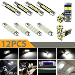 12x Car Interior Led Lights For Dome Map License Plate Lamp Kit Car Accessories