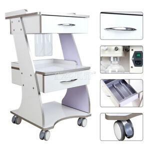 Dental Mobile Metal Built in Socket Tool Cart Auto water Bottle Supply System