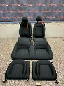 2020 Ford Mustang Gt Oem Black Cloth Seats Front Rear Coupe damage