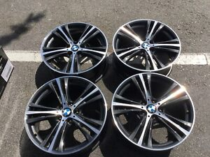 Bmw 4 Series 19 Original Factory Alloy Grey Machined Face Oem Wheels Used