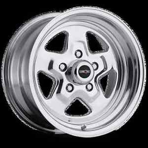 15x10 Vision Nitro Sport Star Pro Drag Racing Wheel 5x4 5 1pc No Weld 6 5 bs