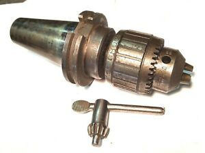 1 2 Inch Jacobs 14n Super Ball Bearing Drill Chuck Cat 45 Taper Shank Spindle