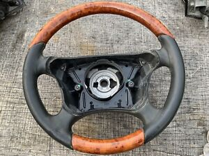 00 03 Mercedes W208 Clk320 E320 E430 Steering Wheel Driver Black Oem Wood