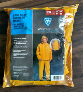 Westchester Protective Gear 2xl 3 Piece Yellow 35mm Pvc poly 5 Snap Closure