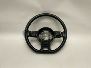 12 19 Volkswagen Beetle Steering Wheel Black Leather Flat Bottom Paddle Shifters