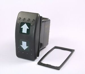 Momentary Illuminated Rocker Switch On off on Up Down Arrows Spdt 12v 20a Green