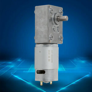 High Torque Reversible Electric Turbo Worm Gear Motor Low Speed Dc12v 5 10 rpm