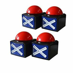 Pack Of 4 Game Answer Buzzer Alarm Button Box With Sound Light Party Contest