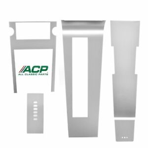 1967 Mustang Automatic Center Console Brushed Aluminum Set Acp
