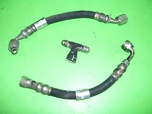 Cummins Turbo Diesel Vacuum Pump Oil Feed Line Flex Hose Lines 97 12v Dodge Ram