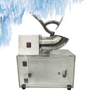 Commercial Snow Cone Machine Ice Shaver Ice Crusher Ice Blender 200w 1400rpm Us
