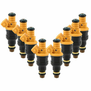 Set Of 8 Flow Matched Bosch 0280150943 Fuel Injectors For Ford 4 6 5 0 5 4 5 8