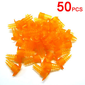 50pcs Bee King Protection Cover Rearing Tools New Bees Queen Cages Cell Usa