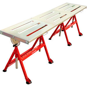 Vevor Adjustable Steel Welding Table Strong Hold Industrial Bench 90 X 20 Inches