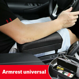 Universal Car Wireless Charger Armrest Box Storage Box Leather Center Console