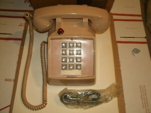 Vintage Comdial 2500 Be Telephone W Red Light lights On Calls Beige brand New