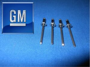 4 Pc Gm Rosette Rivets Chevy Truck 1500 C10 1968 1969 1970 1971 1972 Nos