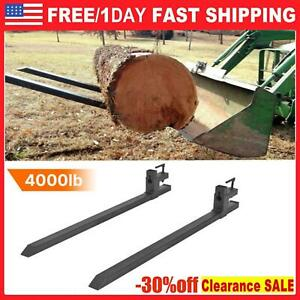 4000lb Pallet Forks 60 Clamp Skid Steer Attachment Loader Tractor Bucket Forks