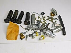 Older Fisher Speedcast Snow Plow Pins Hydraulic Fittings More Parts Lot