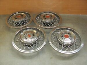 1956 Packard Or Clipper Rare Accessory Wire Wheel Covers full Set Of Four