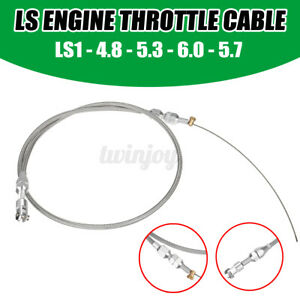 Ls Engine 36 Stainless Steel Braided Throttle Gas Cable Ls1 4 8 5 3 5 7