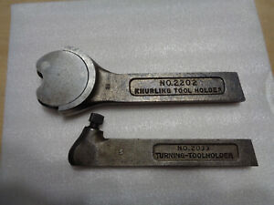 2 Sears Atlas Craftsman Metal Lathe Tool Holders No 2033 Turning 2202 Knurling