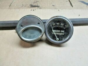 Amp Oil Gauge Lot Of 2 Pieces