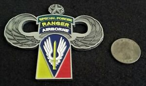 BAD@SS US Army Special Forces Airborne Ranger SOCOM Ops USASOC US Challenge Coin $40.00
