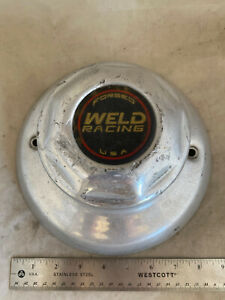 Weld Racing Forged Alloy Polished Dome Wheel Hub Cover Center Cap 9 Diameter
