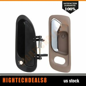For Honda Accord 1998 2002 1x Inside 1x Outside Front Driver Left Door Handles
