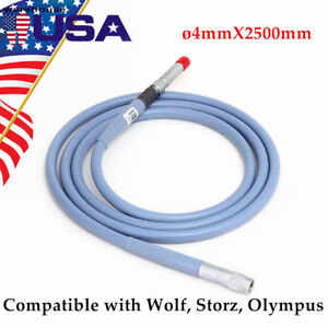 4mm Endoscope Cable Light Cable 4 X2500mm Connector Fit For Storz Wolf Stryker