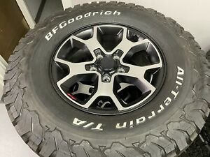 17 2020 Jeep Wrangler Rubicon Oem Factory Alloy 5 Wheels And Tires 285 70r17