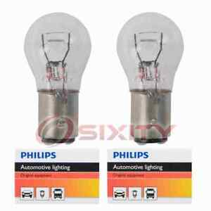 2 Pc Philips Parking Light Bulbs For Pontiac Acadian Bonneville Fiero Eb