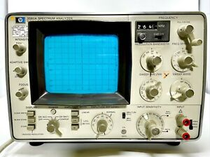 Hewlett Packard Hp 3580a Spectrum Analyzer And Tracking Generator Tested Works