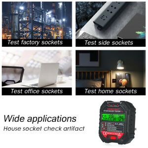 Advanced Automatic Electric Outlet Tester Socket Voltage Wire Testing Detector