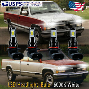 Front Led Headlight Bulb Hkb For 94 98 Chevy C K Pickup Silverado Suburban Tahoe