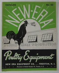Vintage Raising Chickens Egg Hens New Era Poultry Equipment Catalog Trenton Nj